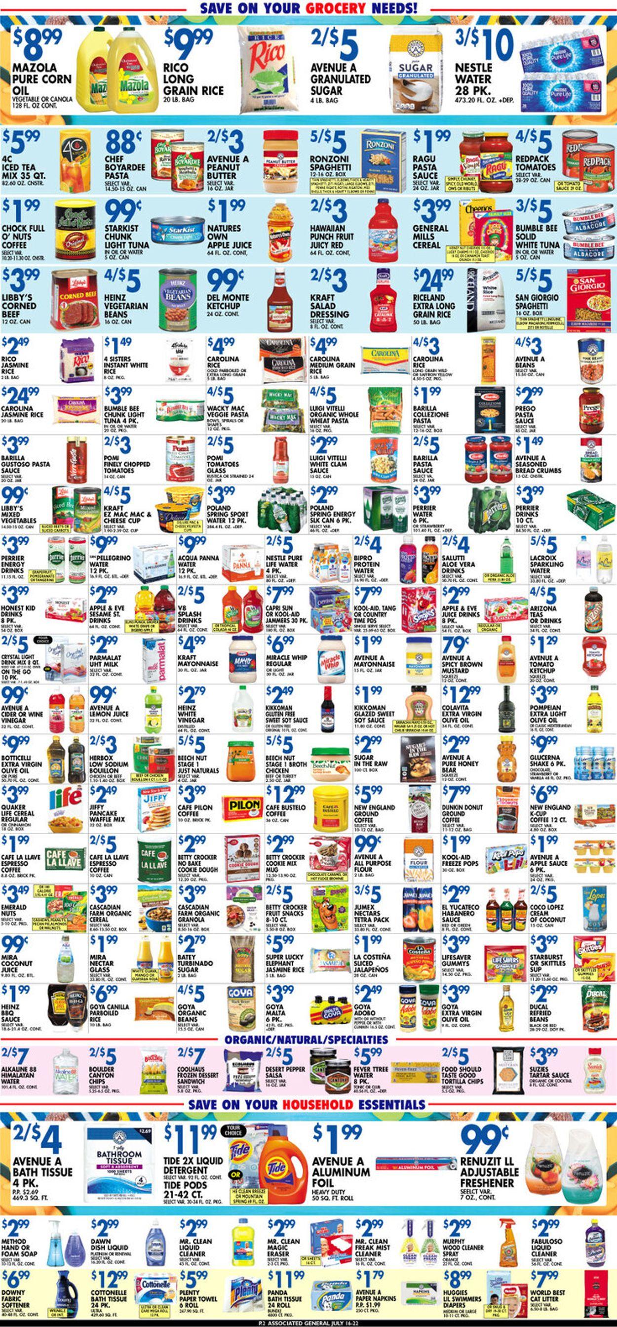 Associated Supermarkets Weekly Ad Circular - valid 07/16-07/22/2021 (Page 2)