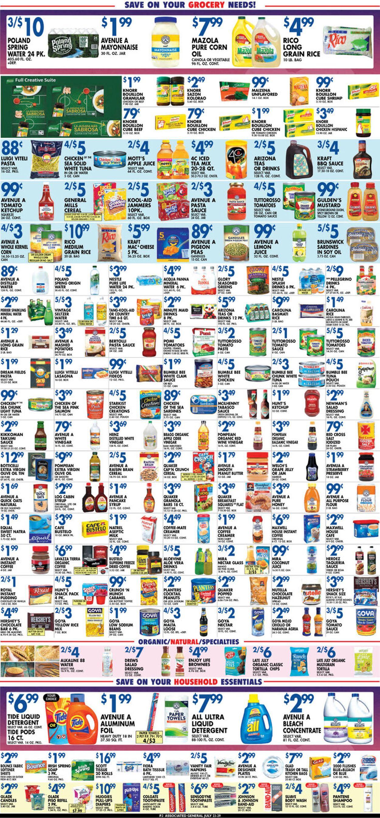 Associated Supermarkets Weekly Ad Circular - valid 07/23-07/29/2021 (Page 2)