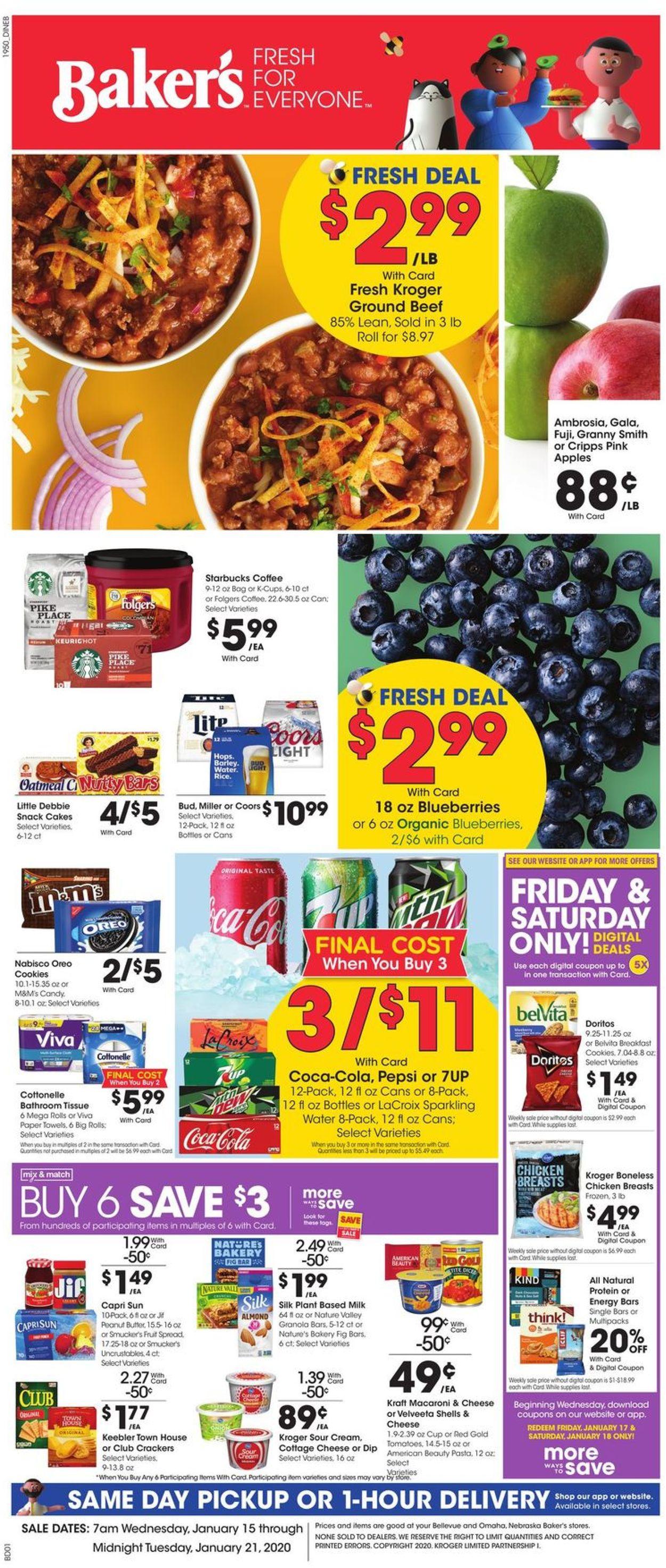 Baker's Weekly Ad Circular - valid 01/15-01/21/2020