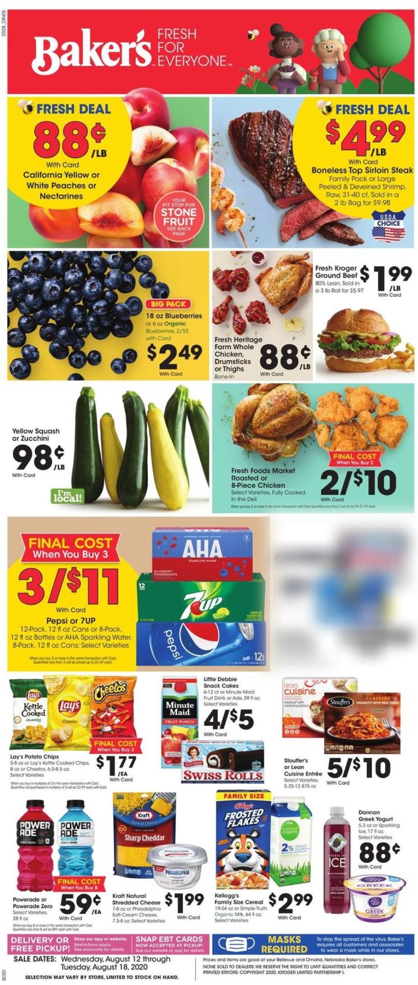 Baker's Weekly Ad Circular - valid 08/12-08/18/2020
