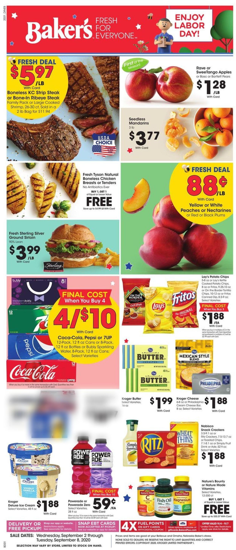 Baker's Weekly Ad Circular - valid 09/02-09/08/2020