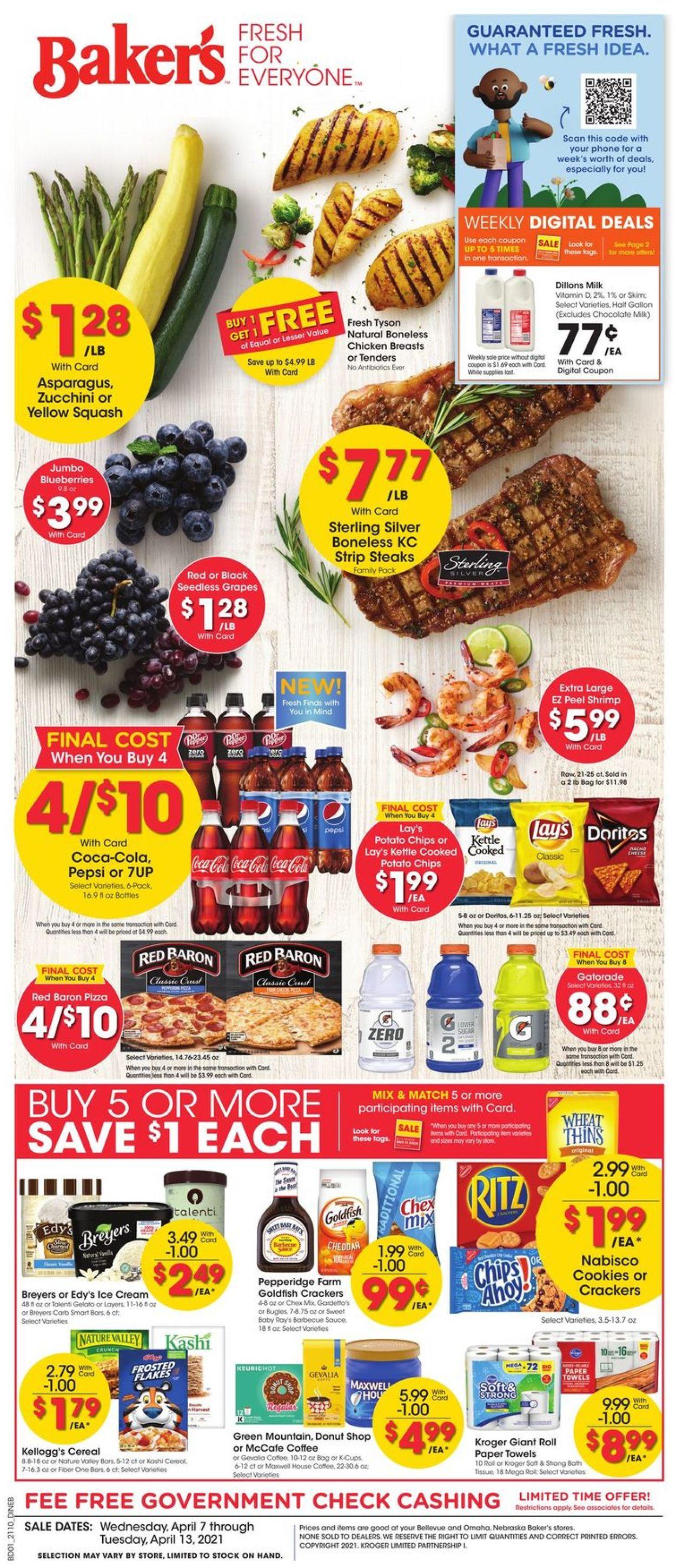 Baker's Weekly Ad Circular - valid 04/07-04/13/2021