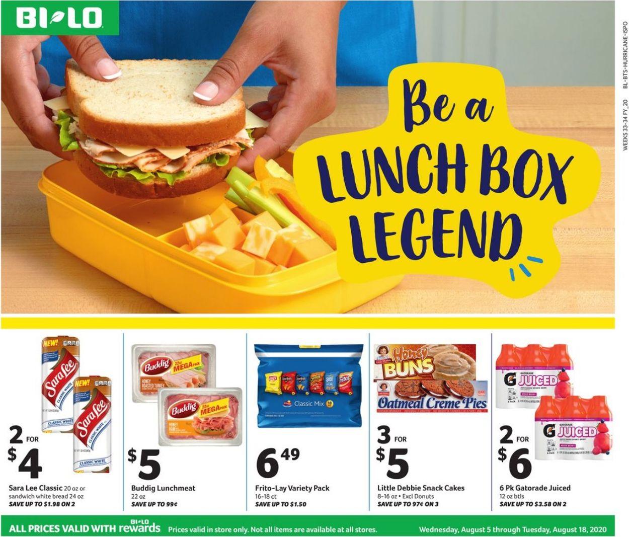 BI-LO Weekly Ad Circular - valid 08/05-08/18/2020