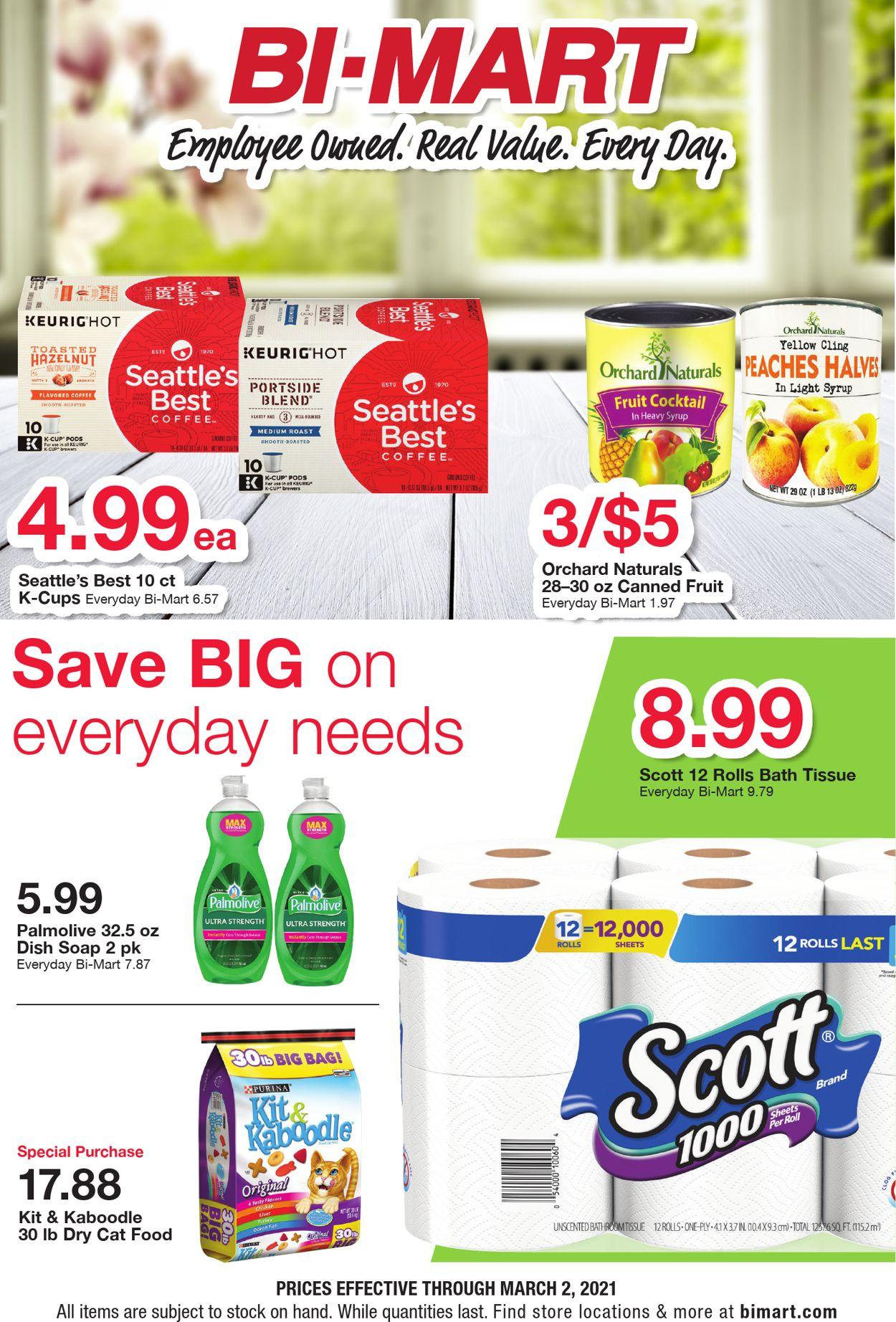 Bi-Mart Weekly Ad Circular - valid 02/17-03/02/2021