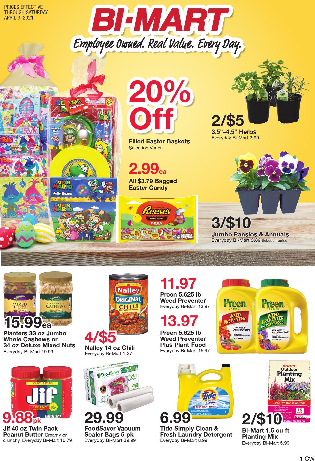 Bi-Mart - Easter 2021 Weekly Ad Circular - valid 03/23-04/03/2021