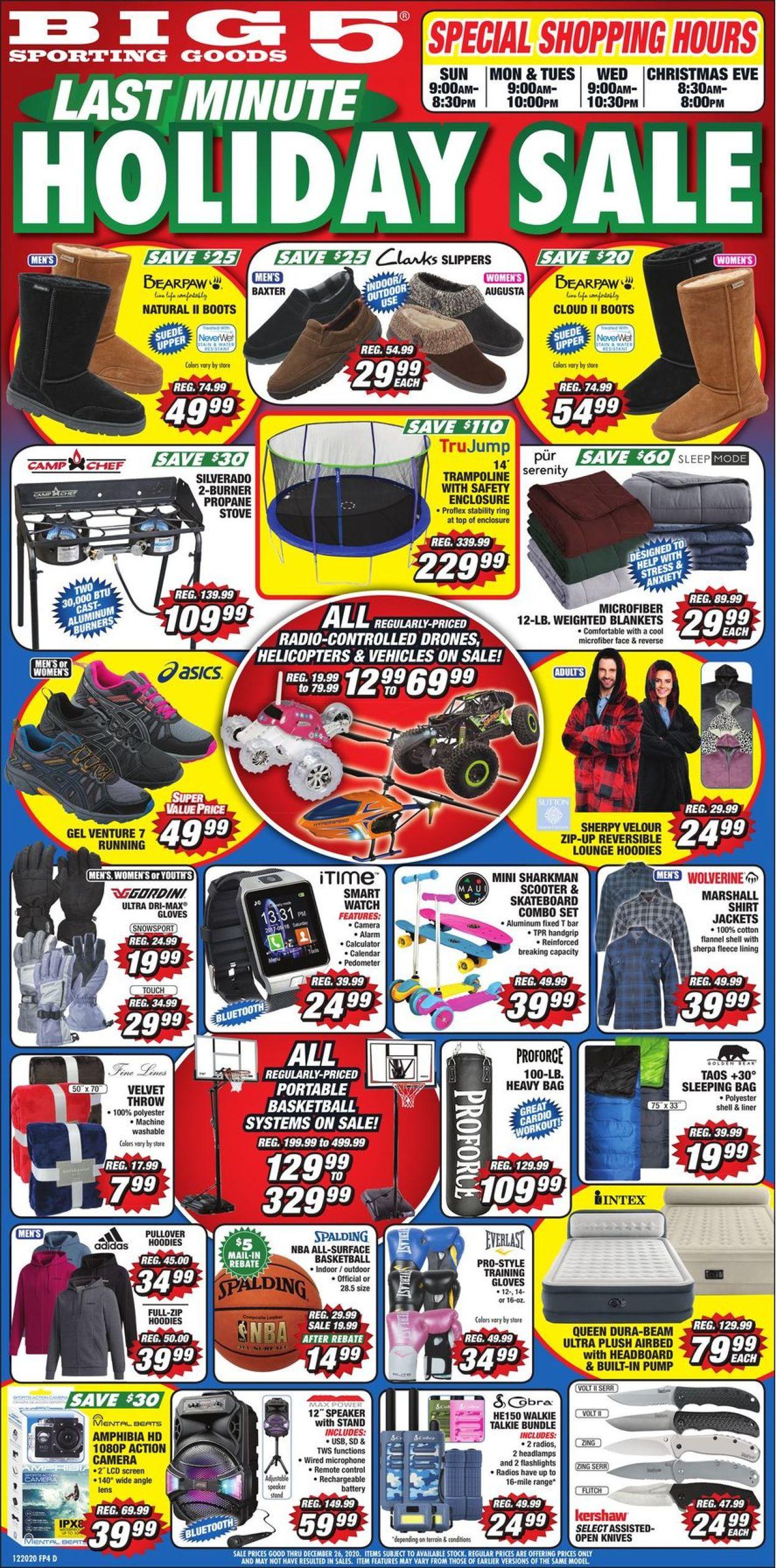 Big 5 Holiday Sale 2020 Weekly Ad Circular - valid 12/20-12/26/2020