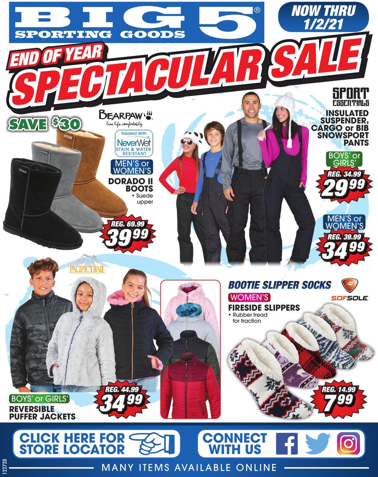 Big 5 Weekly Ad Circular - valid 12/27-01/02/2021