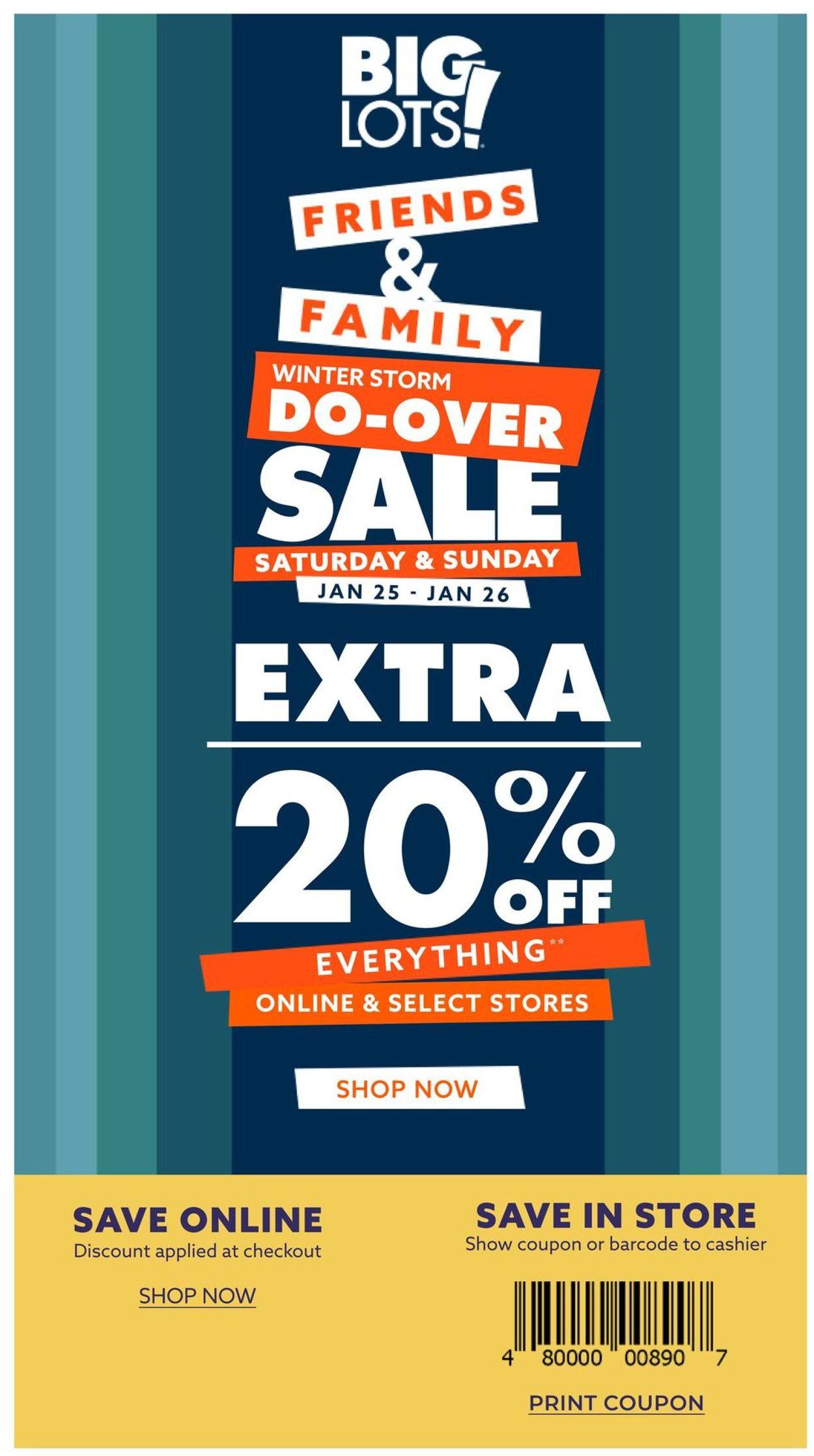 Big Lots Weekly Ad Circular - valid 01/25-01/26/2020