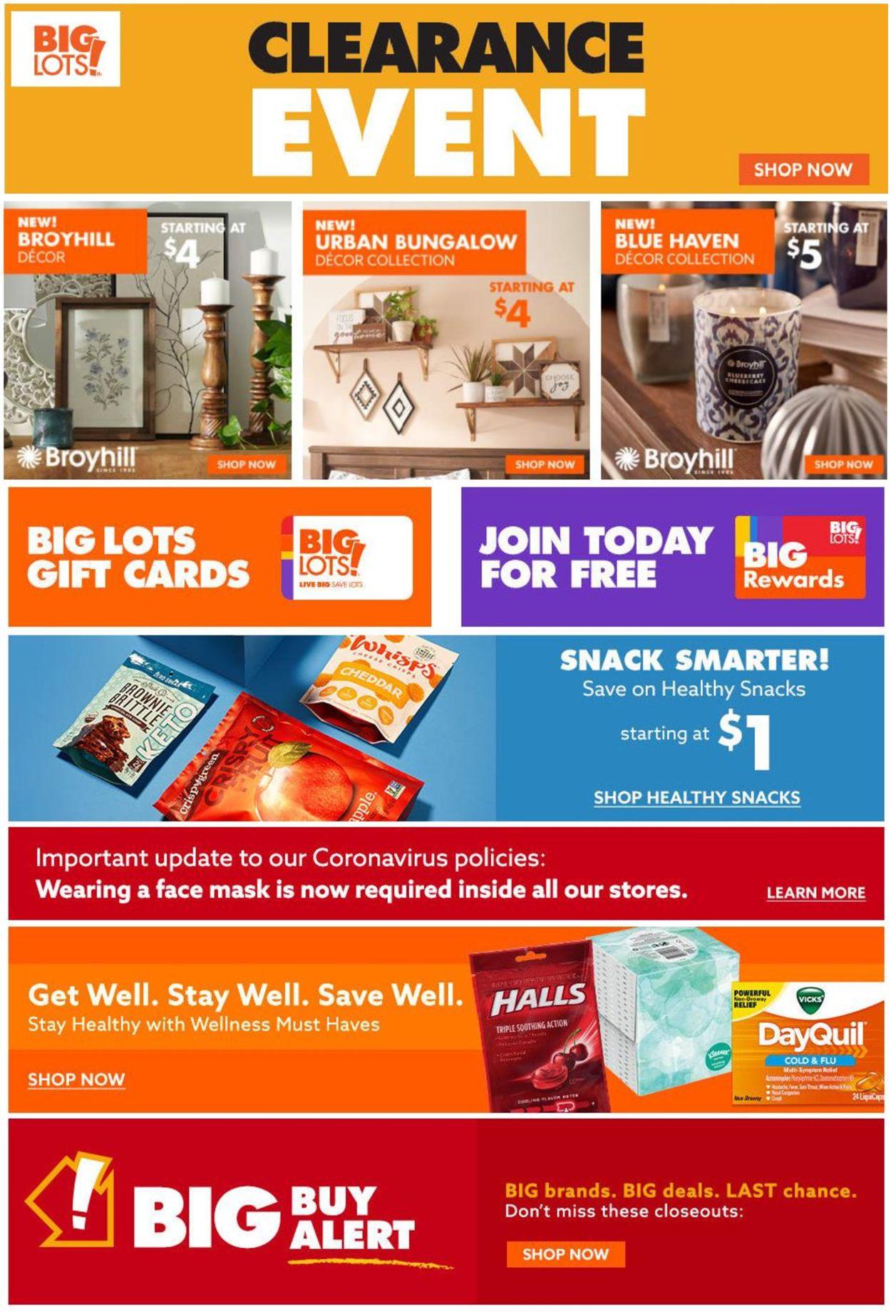 Big Lots Weekly Ad Circular - valid 01/18-01/25/2021