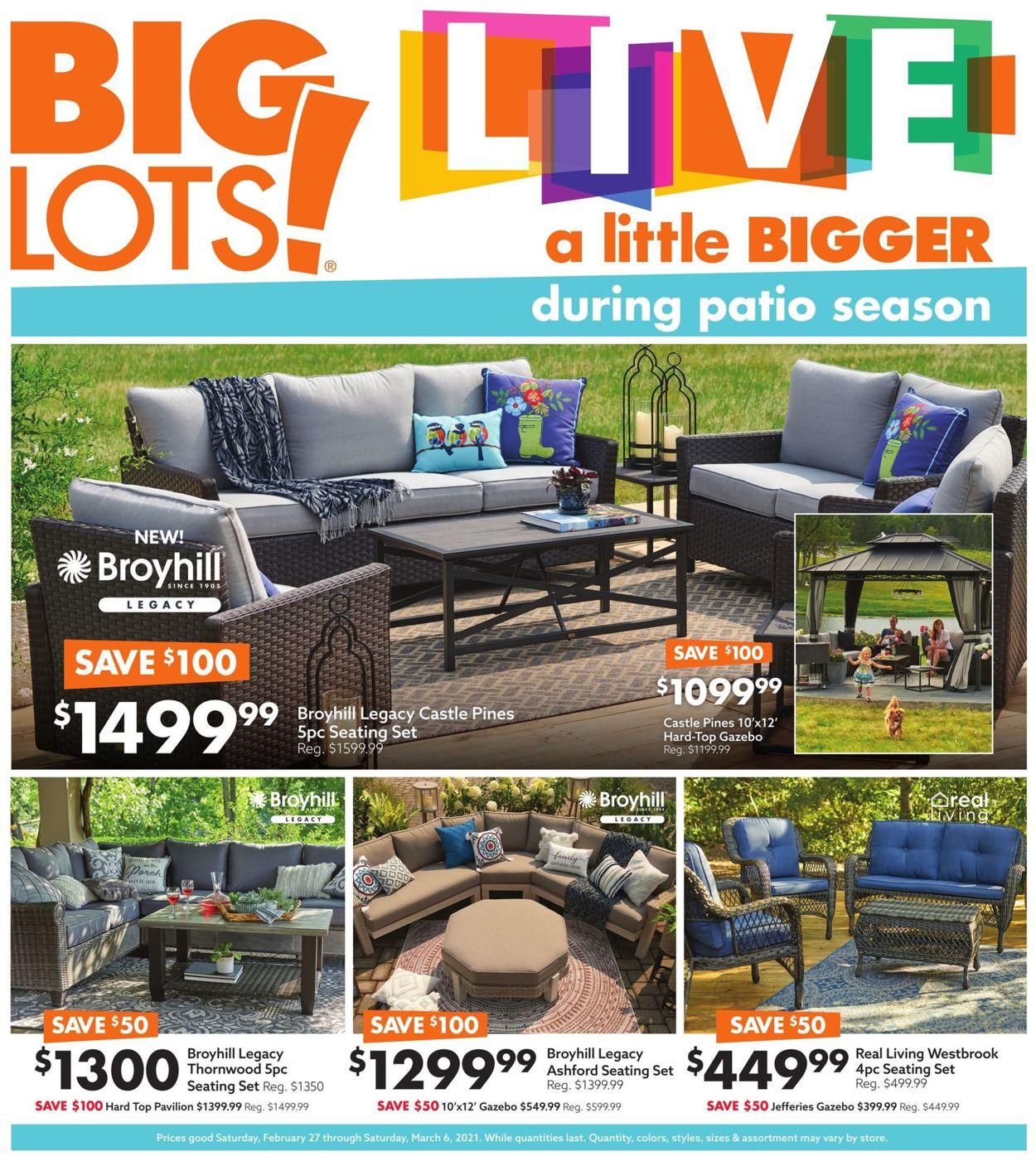 Big Lots Weekly Ad Circular - valid 02/27-03/06/2021
