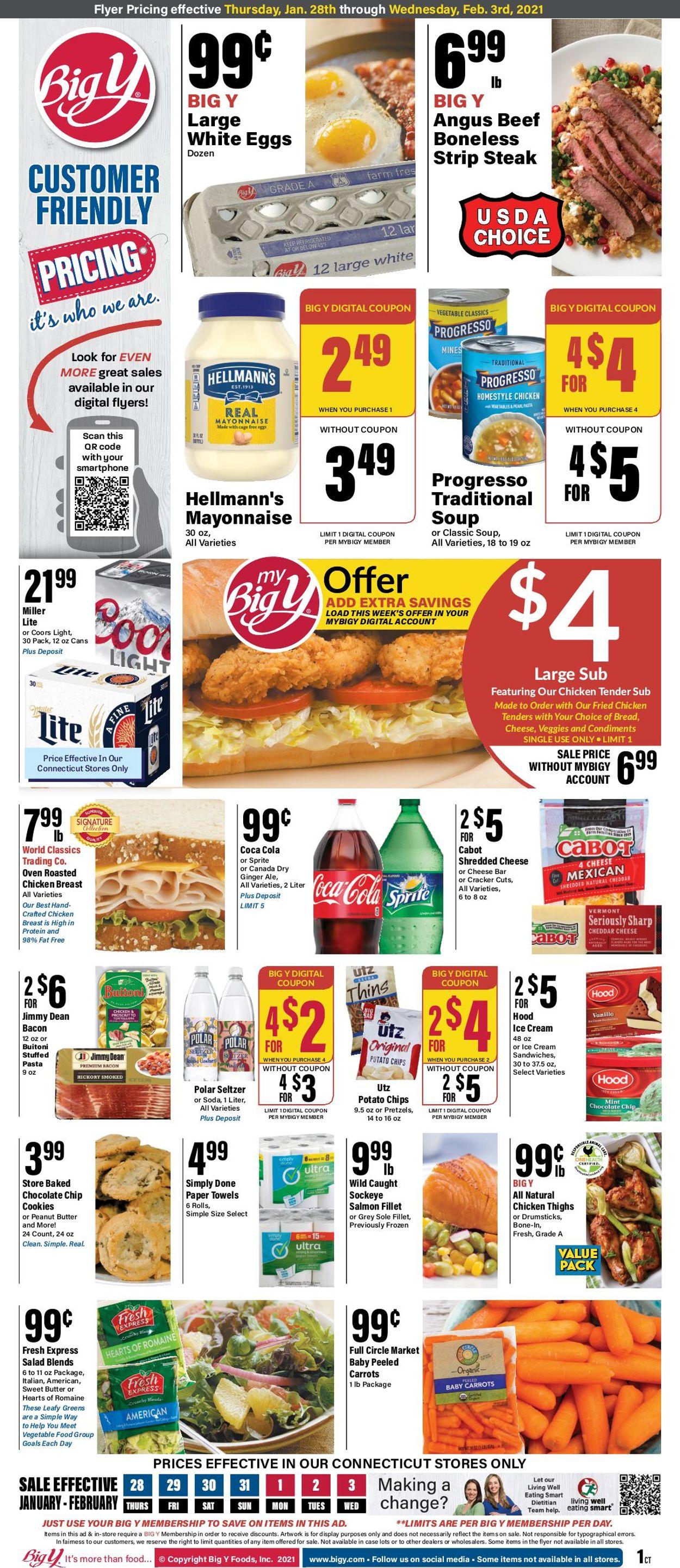 Big Y Weekly Ad Circular - valid 01/28-02/03/2021