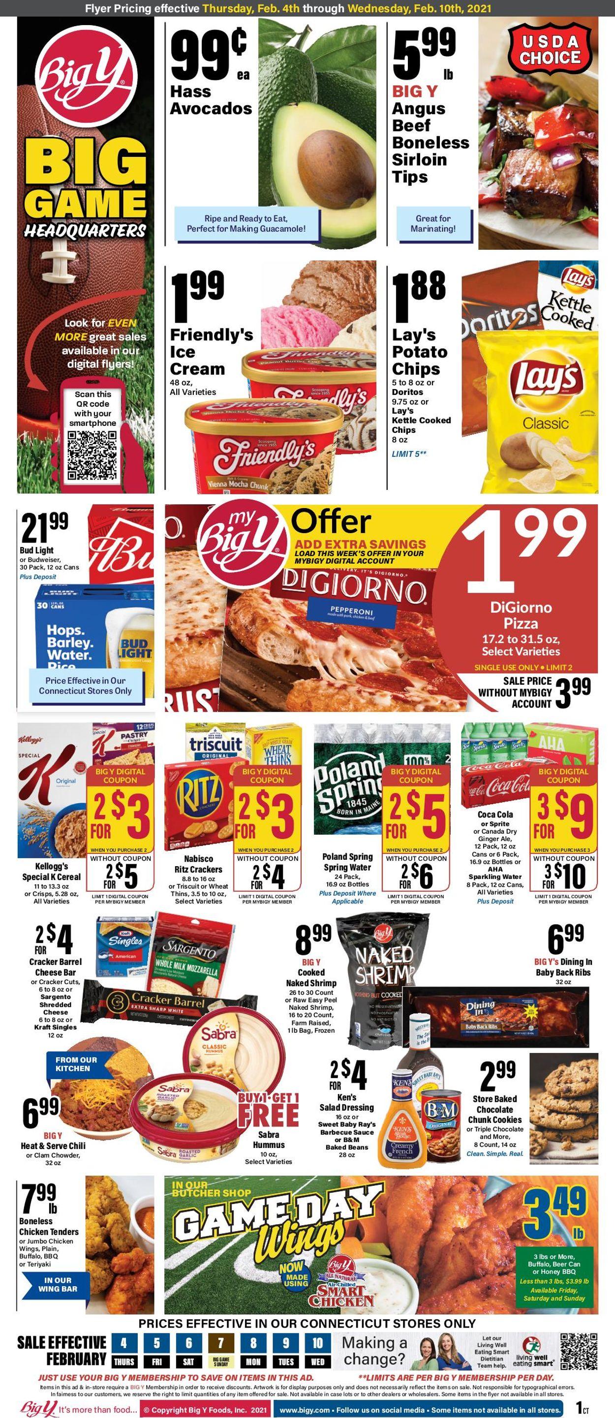 Big Y Weekly Ad Circular - valid 02/04-02/10/2021