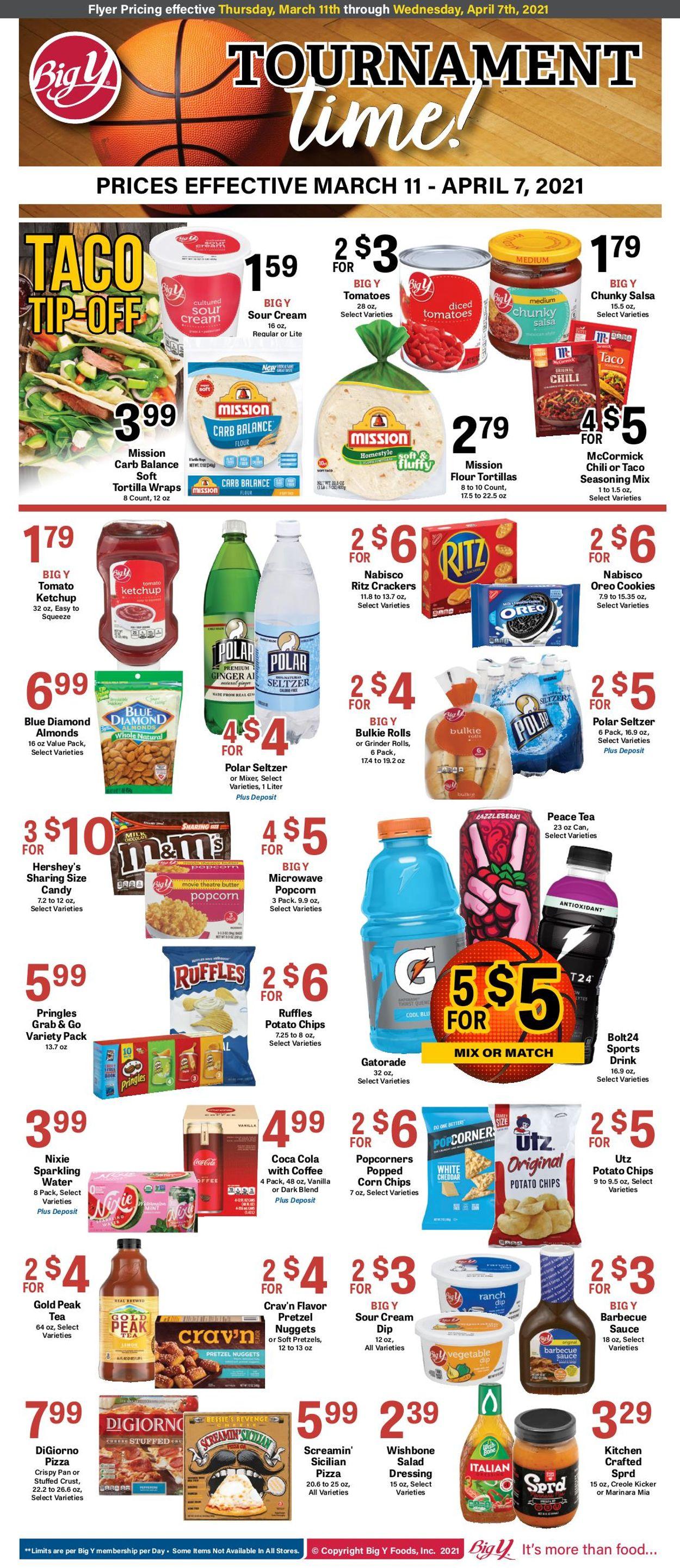 Big Y Weekly Ad Circular - valid 03/11-04/07/2021