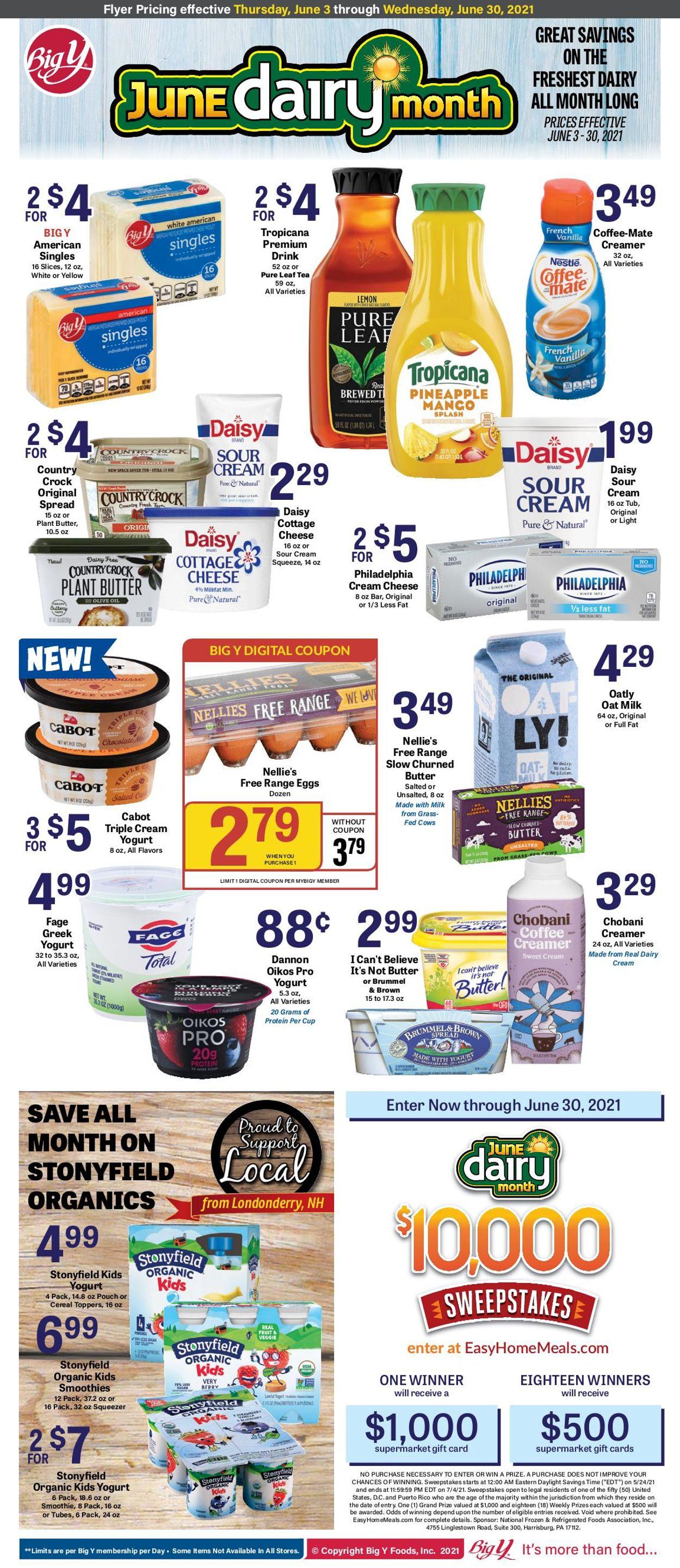 Big Y Weekly Ad Circular - valid 06/03-06/30/2021