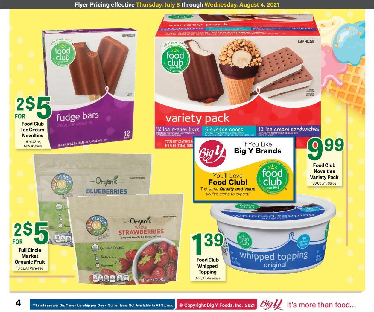 Big Y Weekly Ad Circular - valid 07/08-08/04/2021 (Page 4)