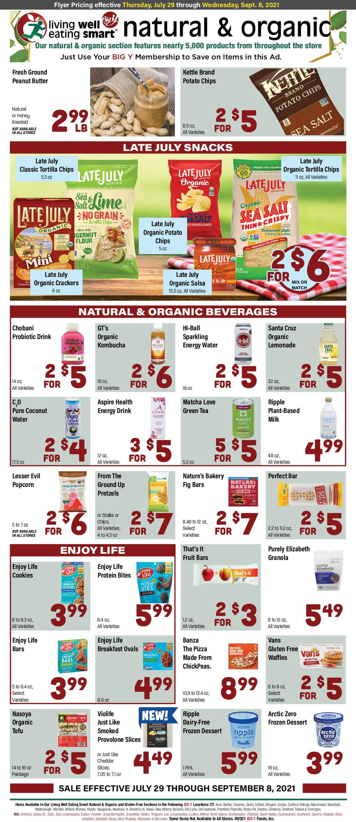 Big Y Weekly Ad Circular - valid 07/29-09/08/2021