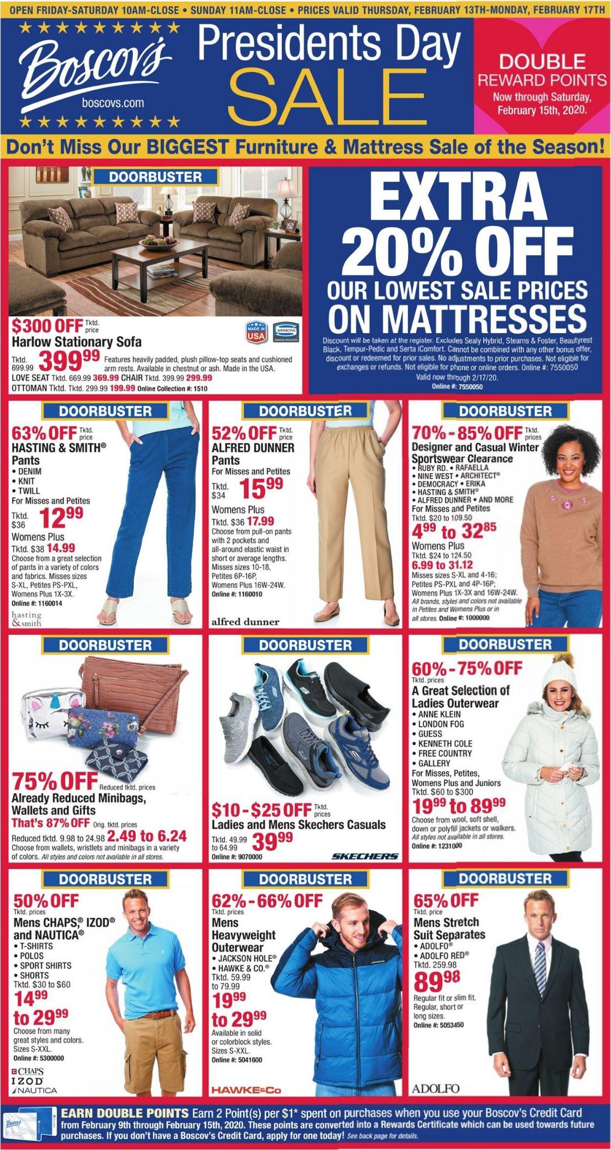 Boscov's Weekly Ad Circular - valid 02/13-02/17/2020