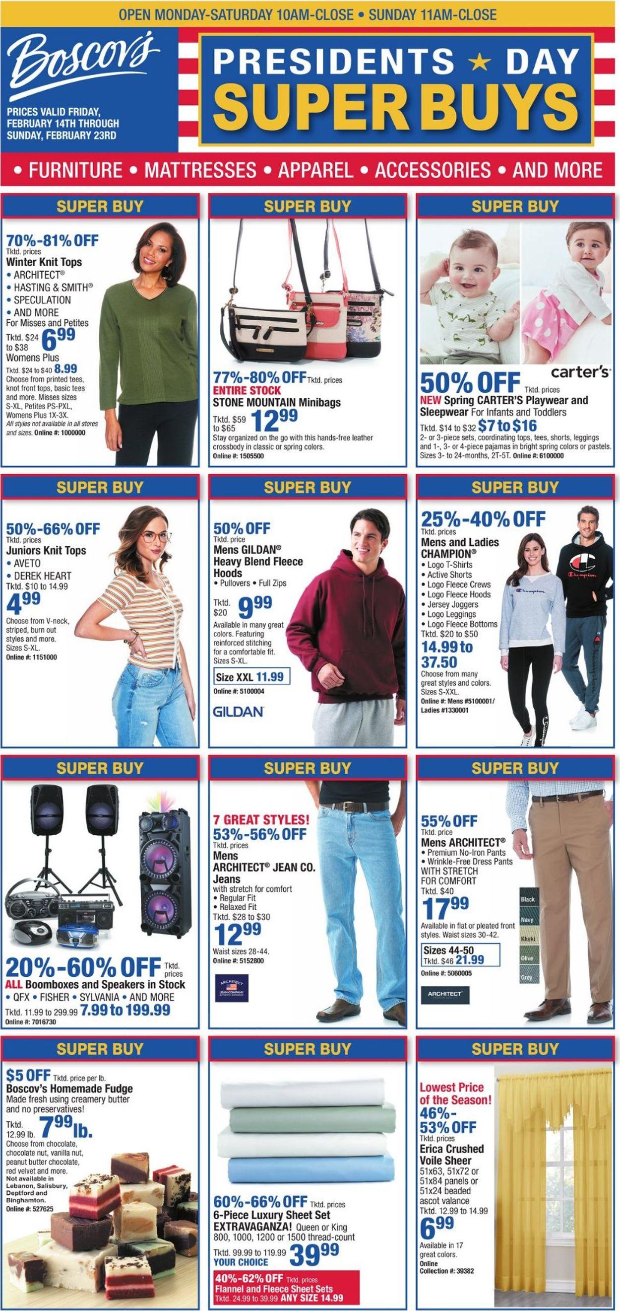 Boscov's Weekly Ad Circular - valid 02/14-02/23/2020