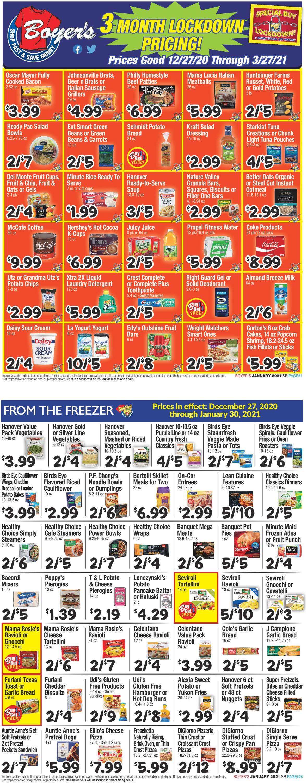 Boyer's Food Markets Weekly Ad Circular - valid 12/27-03/27/2021