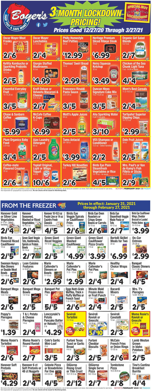 Boyer's Food Markets Weekly Ad Circular - valid 02/27-03/27/2021