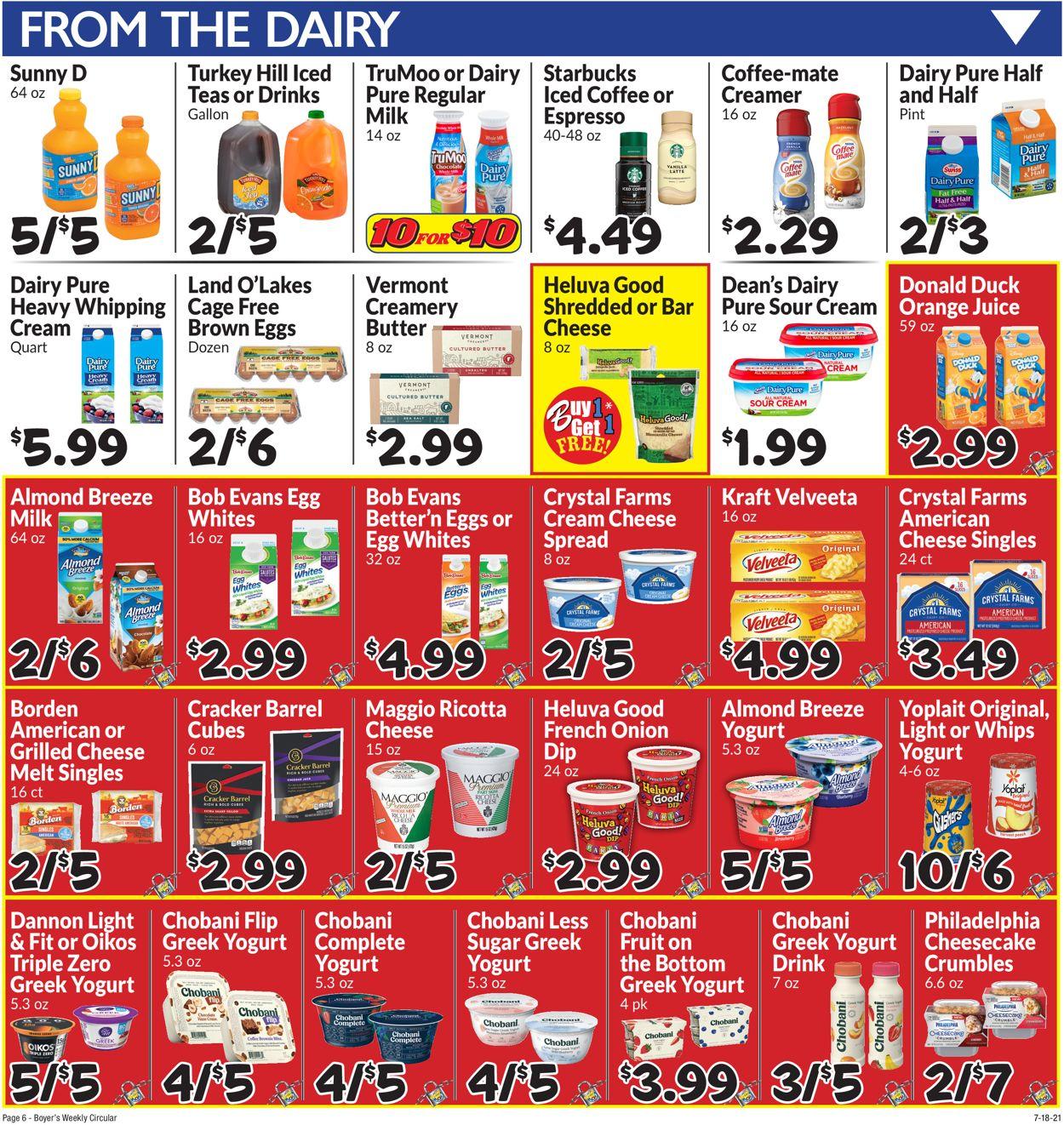Boyer's Food Markets Weekly Ad Circular - valid 07/18-07/24/2021 (Page 9)