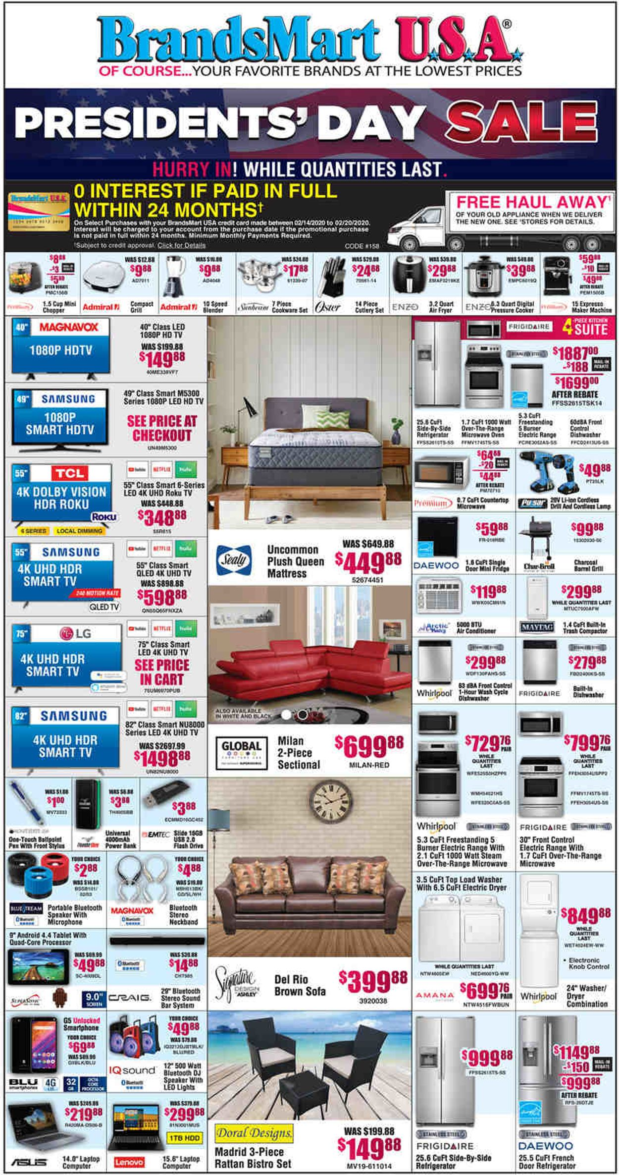 Brandsmart USA Weekly Ad Circular - valid 02/14-02/16/2020