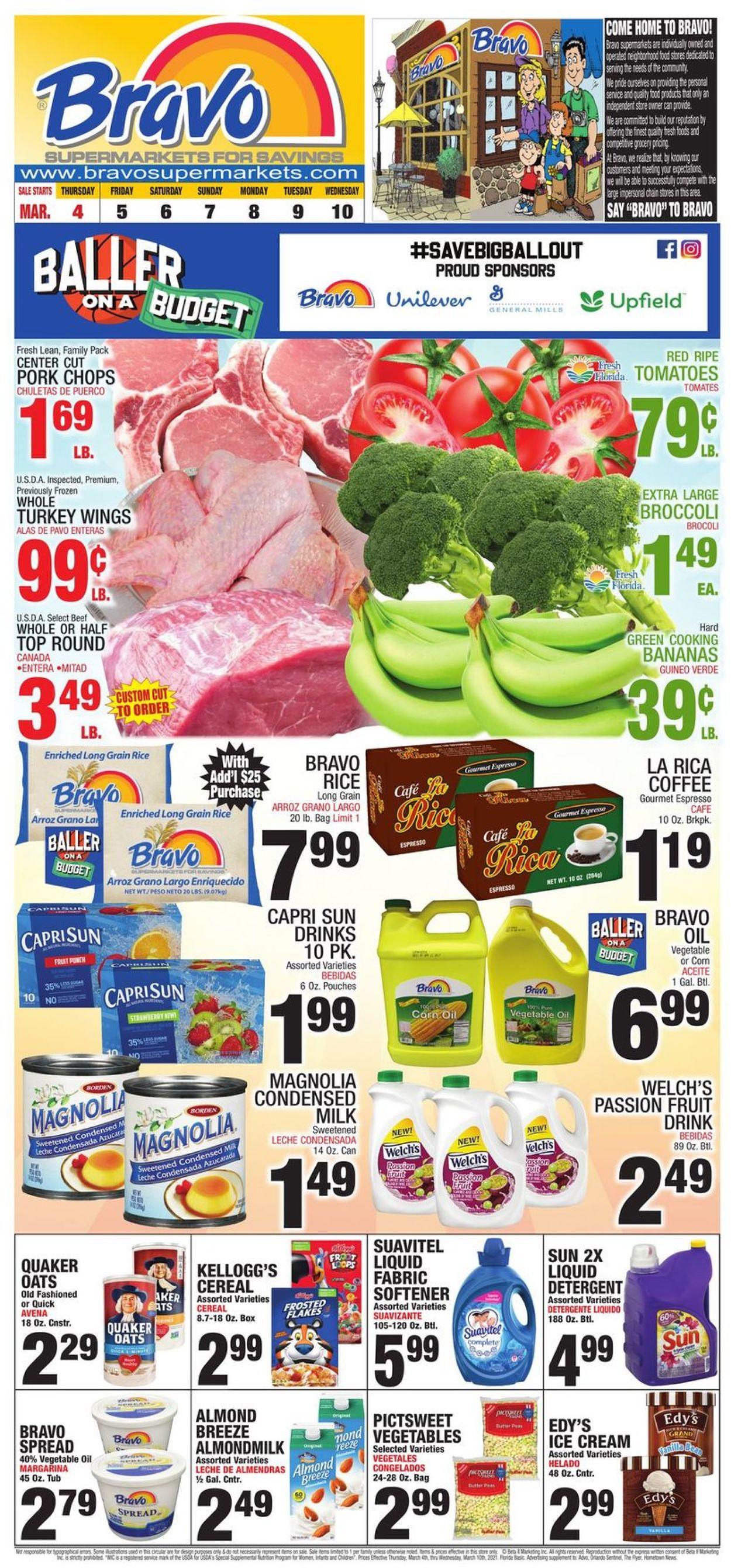 Bravo Supermarkets Weekly Ad Circular - valid 03/04-03/10/2021
