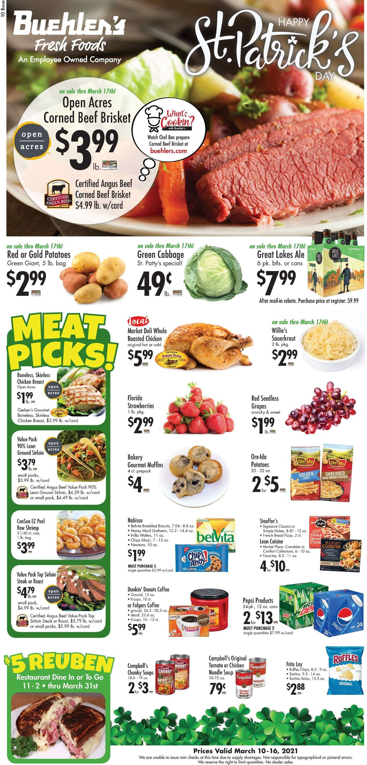 Buehler's Fresh Foods Weekly Ad Circular - valid 03/10-03/16/2021