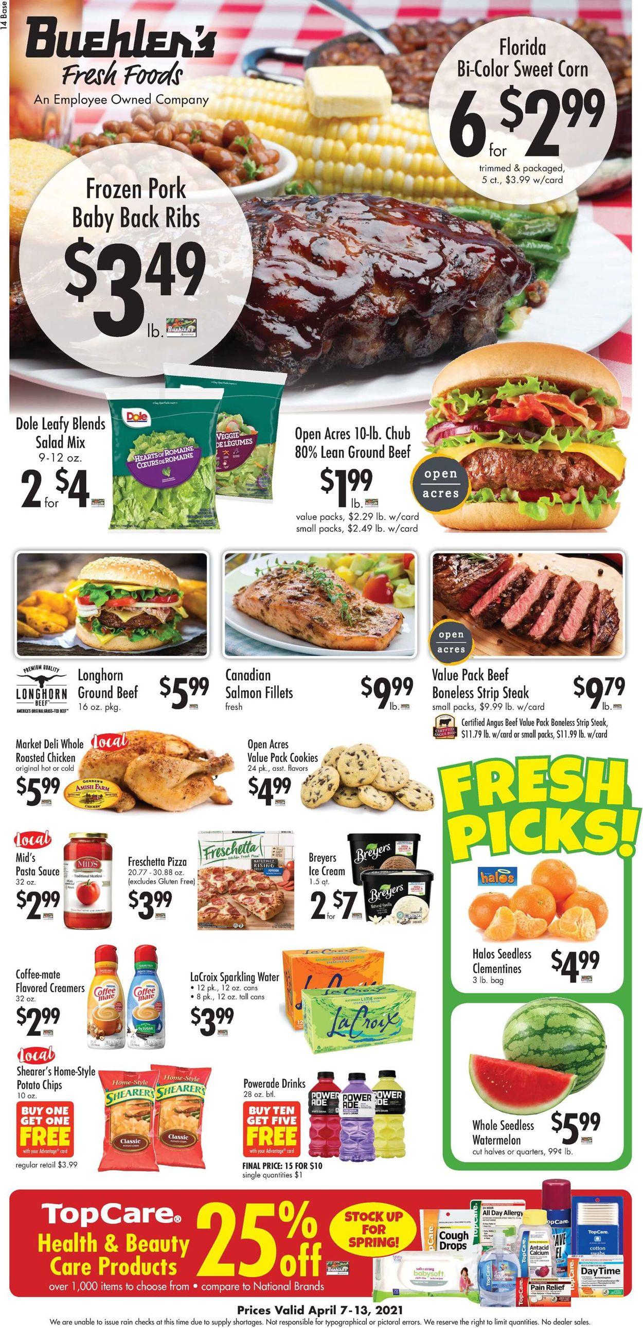 Buehler's Fresh Foods Weekly Ad Circular - valid 04/07-04/13/2021