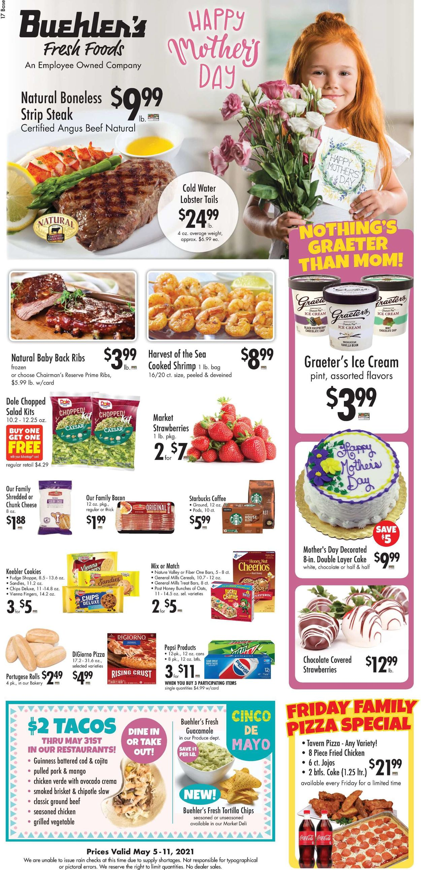 Buehler's Fresh Foods Weekly Ad Circular - valid 05/05-05/11/2021