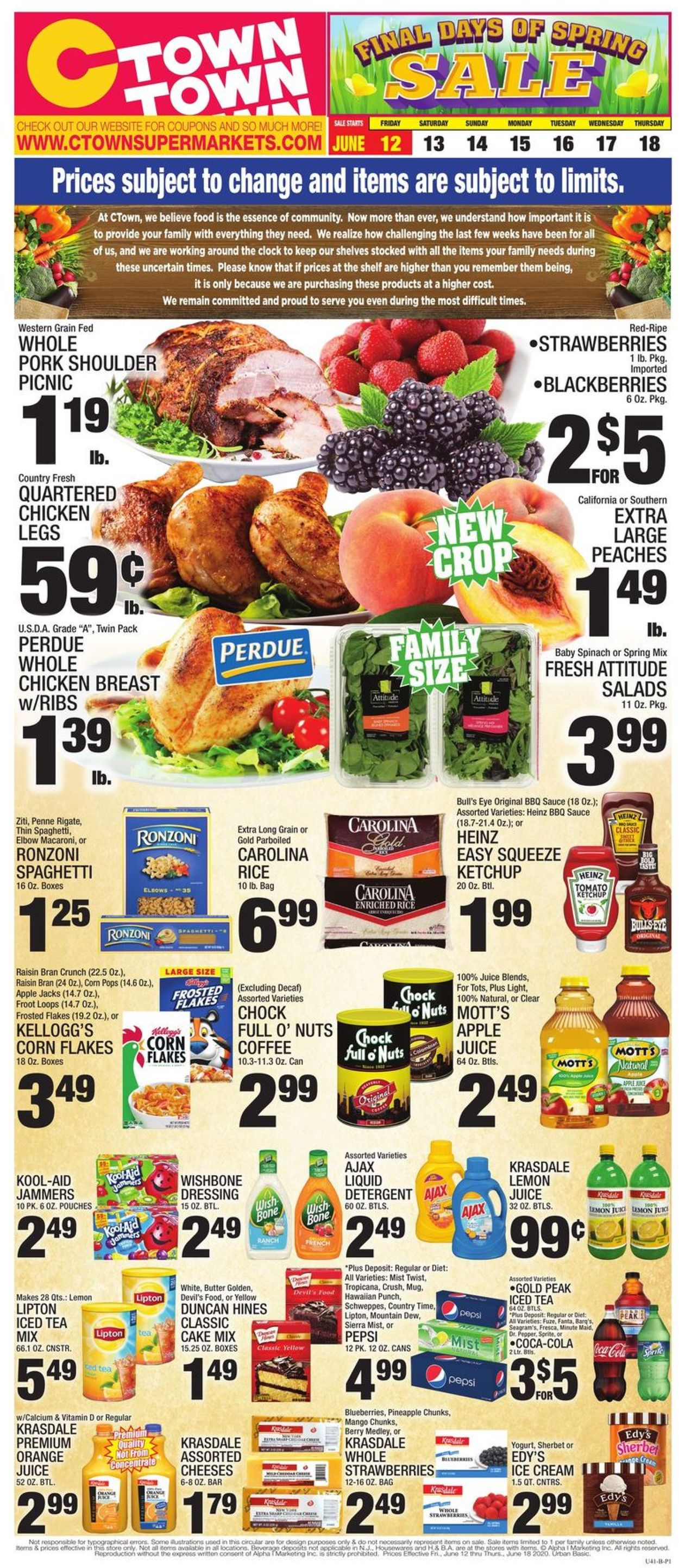 C-Town Weekly Ad Circular - valid 06/12-06/18/2020