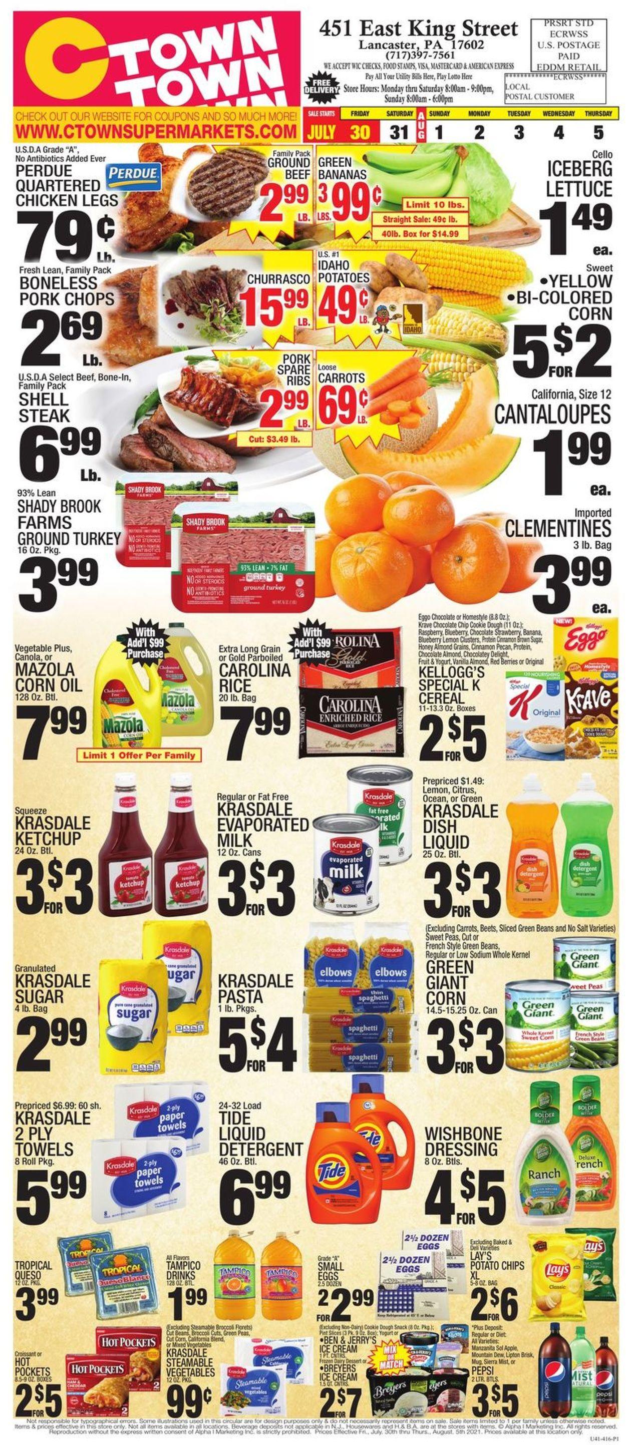 C-Town Weekly Ad Circular - valid 07/30-08/05/2021