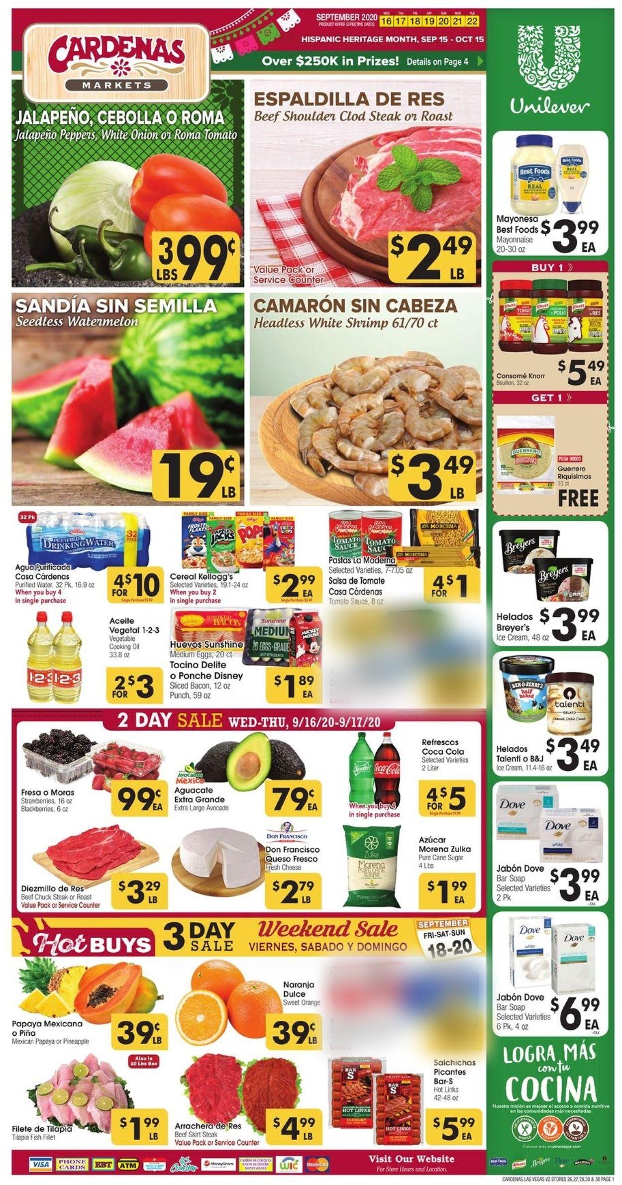 Cardenas Weekly Ad Circular - valid 09/16-09/22/2020