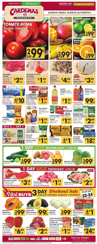 Cardenas Weekly Ad Circular - valid 01/20-01/26/2021