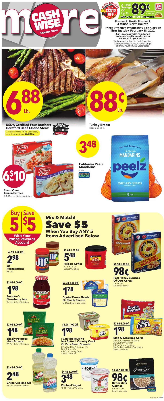 Cash Wise Weekly Ad Circular - valid 02/09-02/18/2020