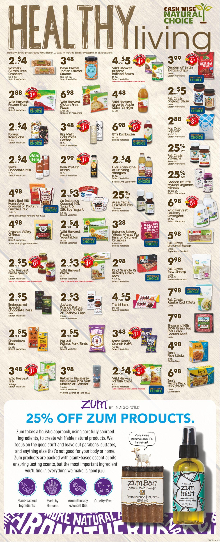Cash Wise Weekly Ad Circular - valid 02/10-03/02/2021