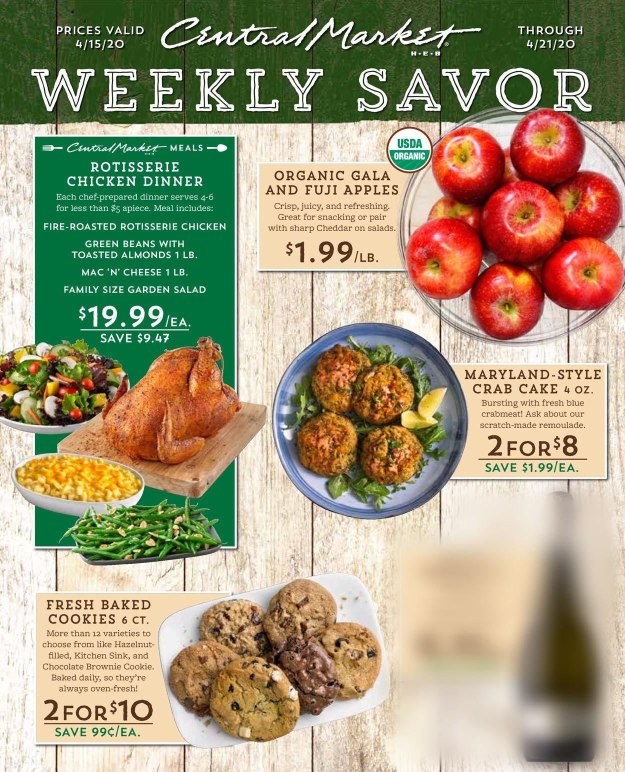 Central Market Weekly Ad Circular - valid 04/15-04/21/2020