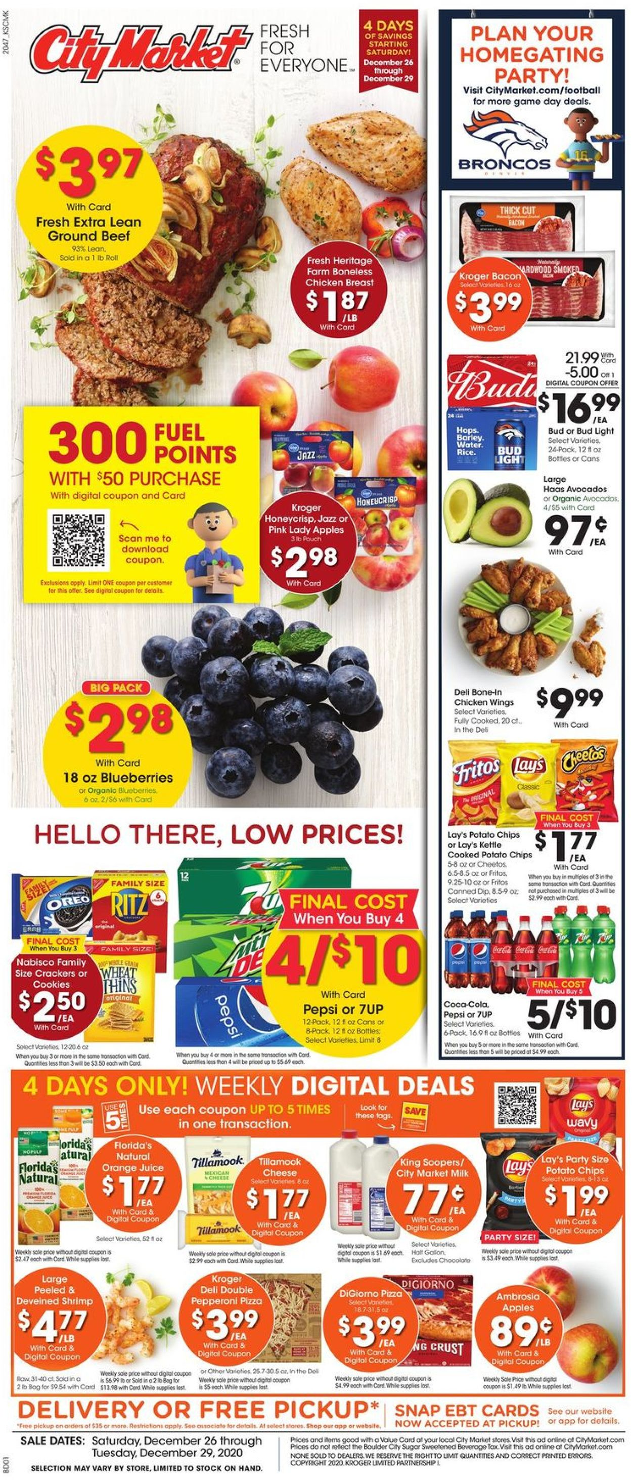 City Market Weekly Ad Circular - valid 12/26-12/29/2020