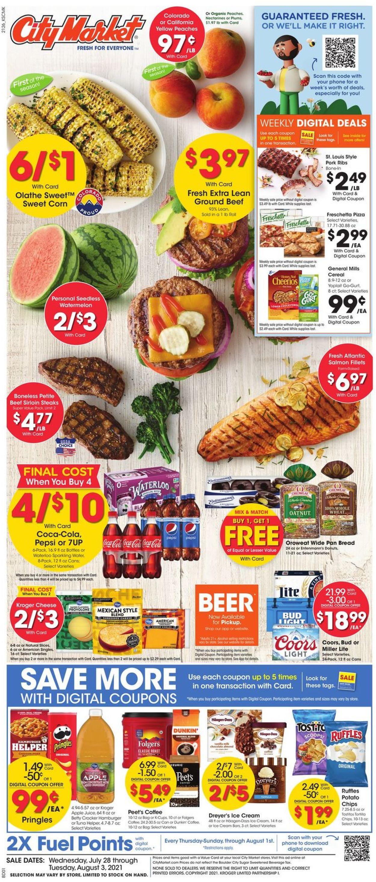 City Market Weekly Ad Circular - valid 07/28-08/03/2021