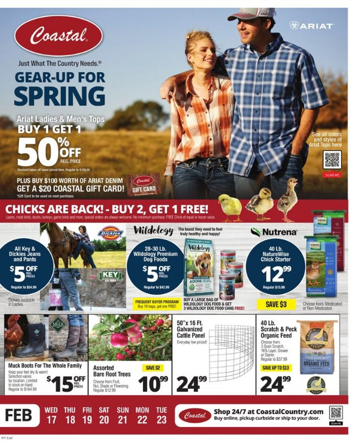 Coastal Farm & Ranch Weekly Ad Circular - valid 02/17-02/23/2021