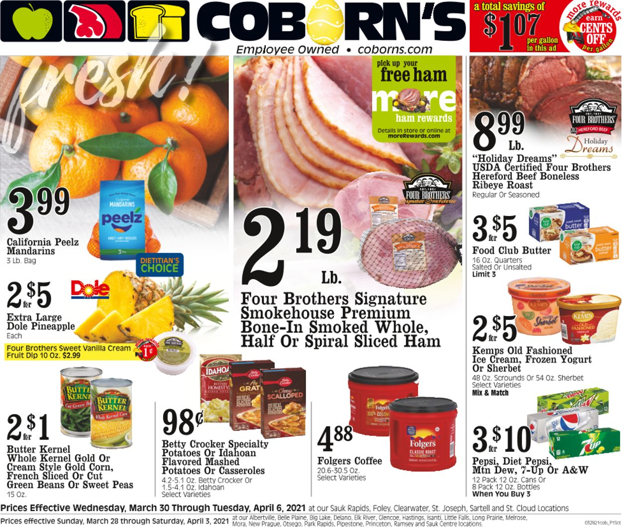 Coborn's Easter 2021 ad Weekly Ad Circular - valid 03/30-04/06/2021