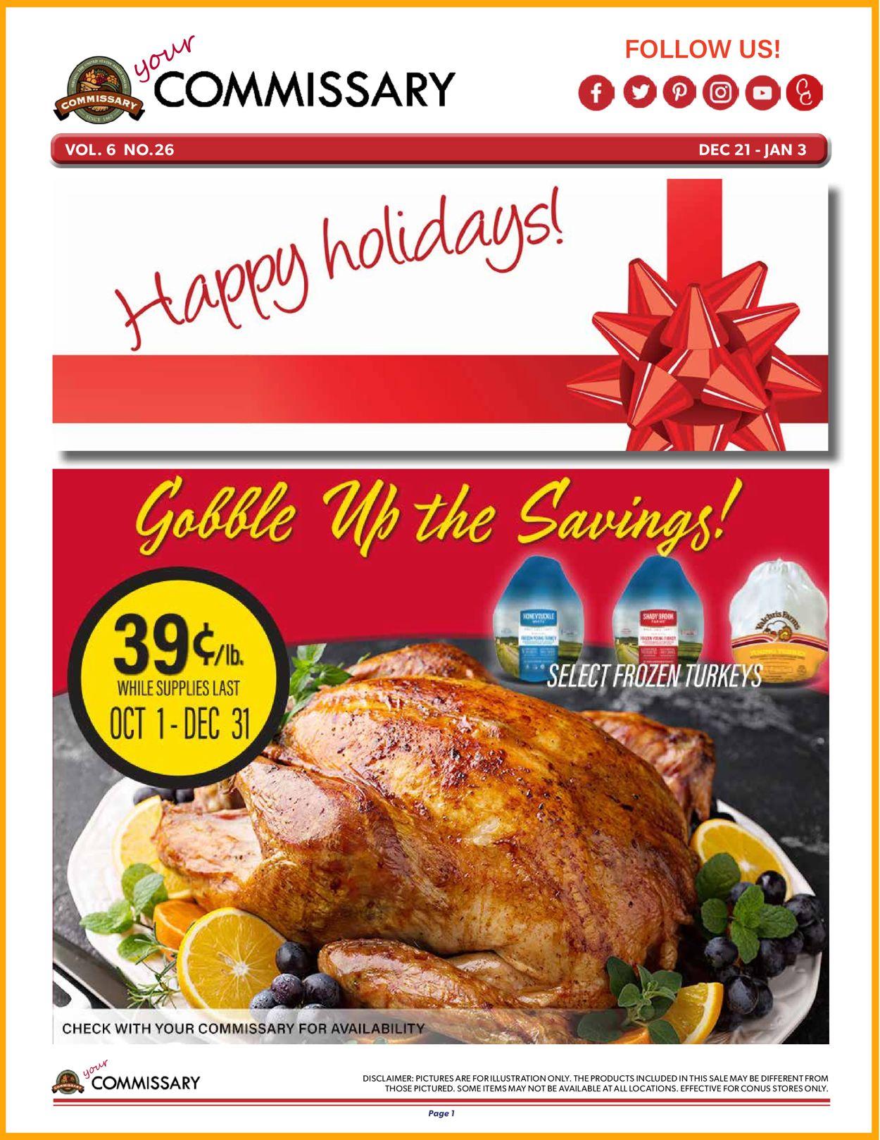 Commissary Christmas Ad 2020 Weekly Ad Circular - valid 12/21-01/03/2021