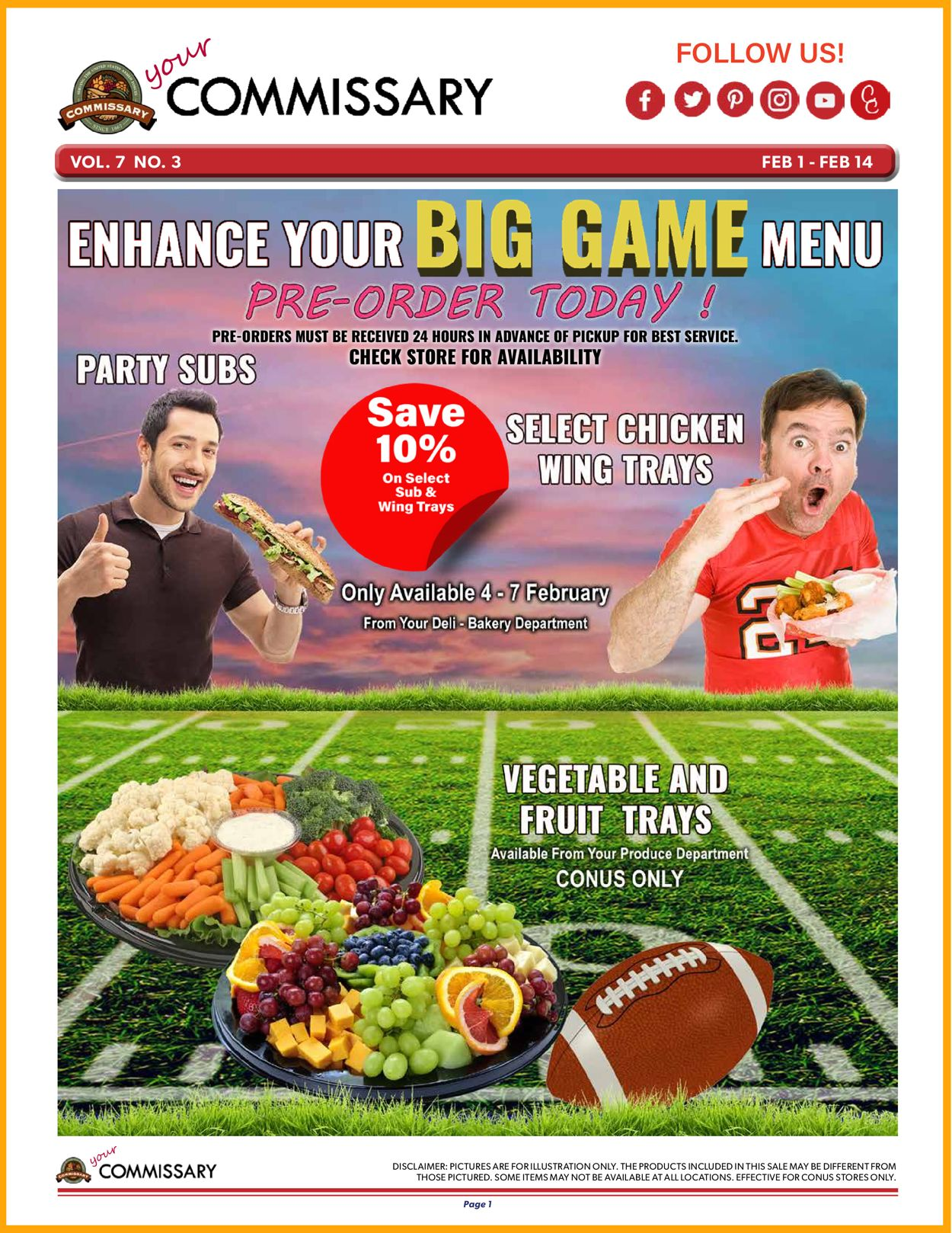 Commissary Game Day 2021 Weekly Ad Circular - valid 02/01-02/14/2021