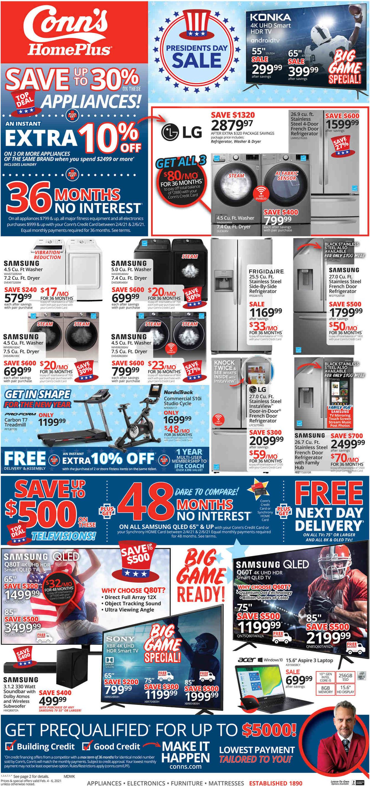 Conn's Home Plus Weekly Ad Circular - valid 02/04-02/06/2021