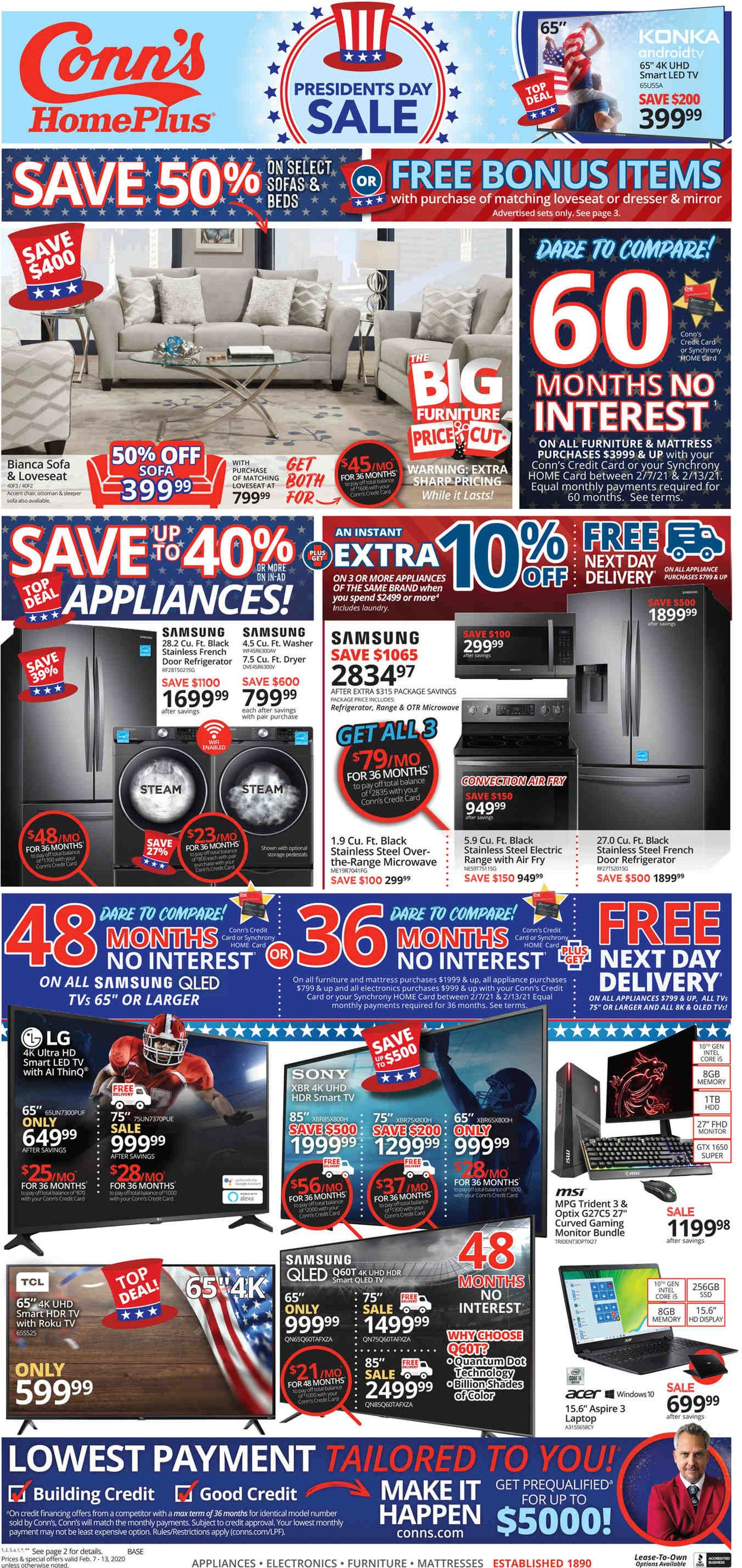 Conn's Home Plus Weekly Ad Circular - valid 02/07-02/13/2021