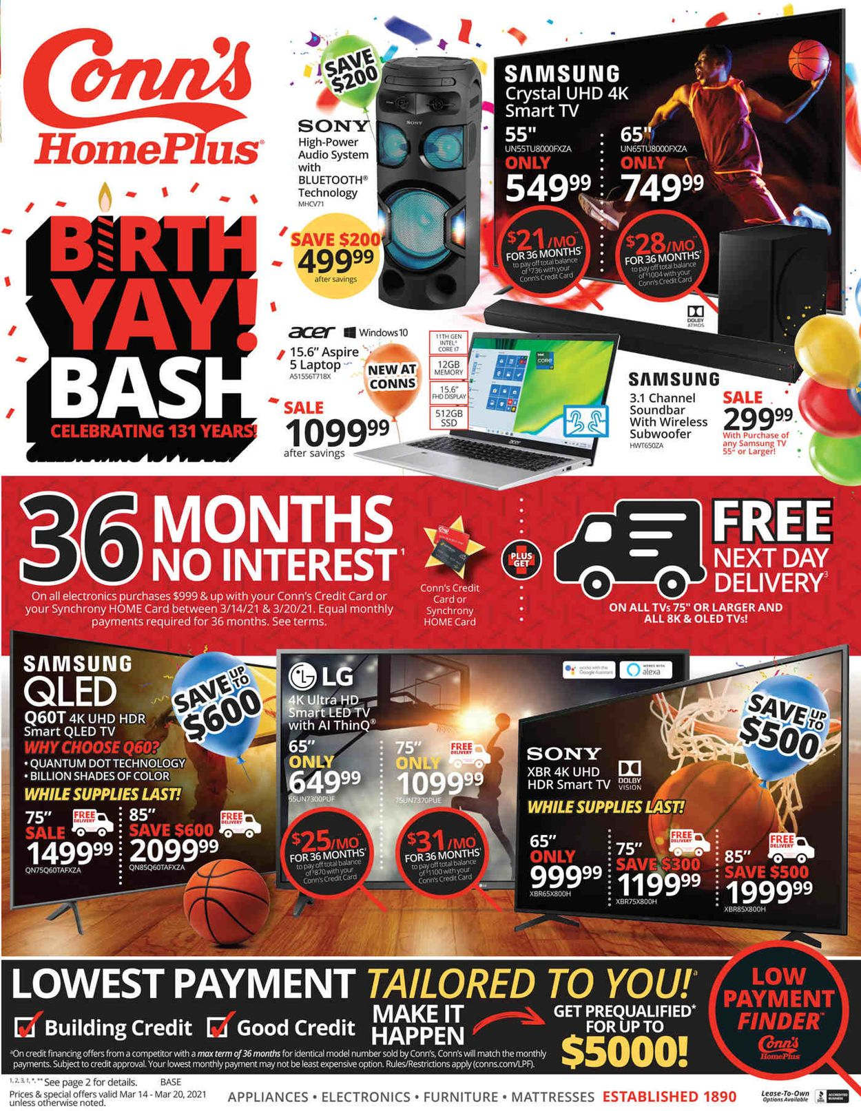 Conn's Home Plus Weekly Ad Circular - valid 03/14-03/20/2021