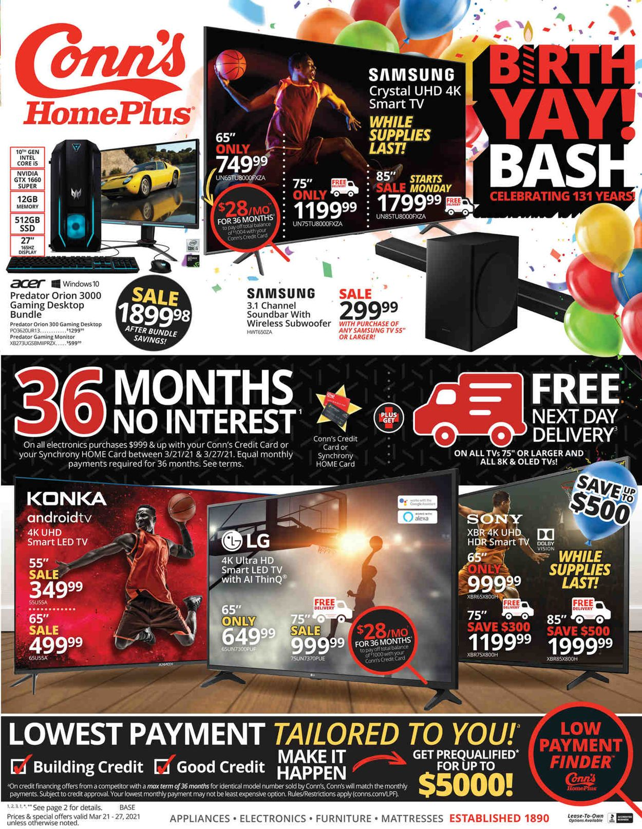 Conn's Home Plus Weekly Ad Circular - valid 03/21-03/27/2021