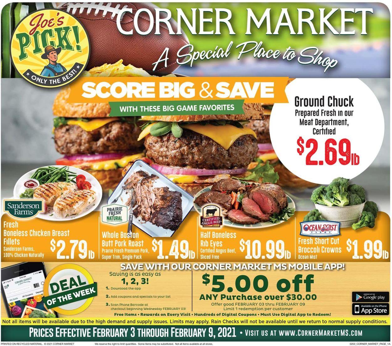 Corner Market Weekly Ad Circular - valid 02/03-02/09/2021