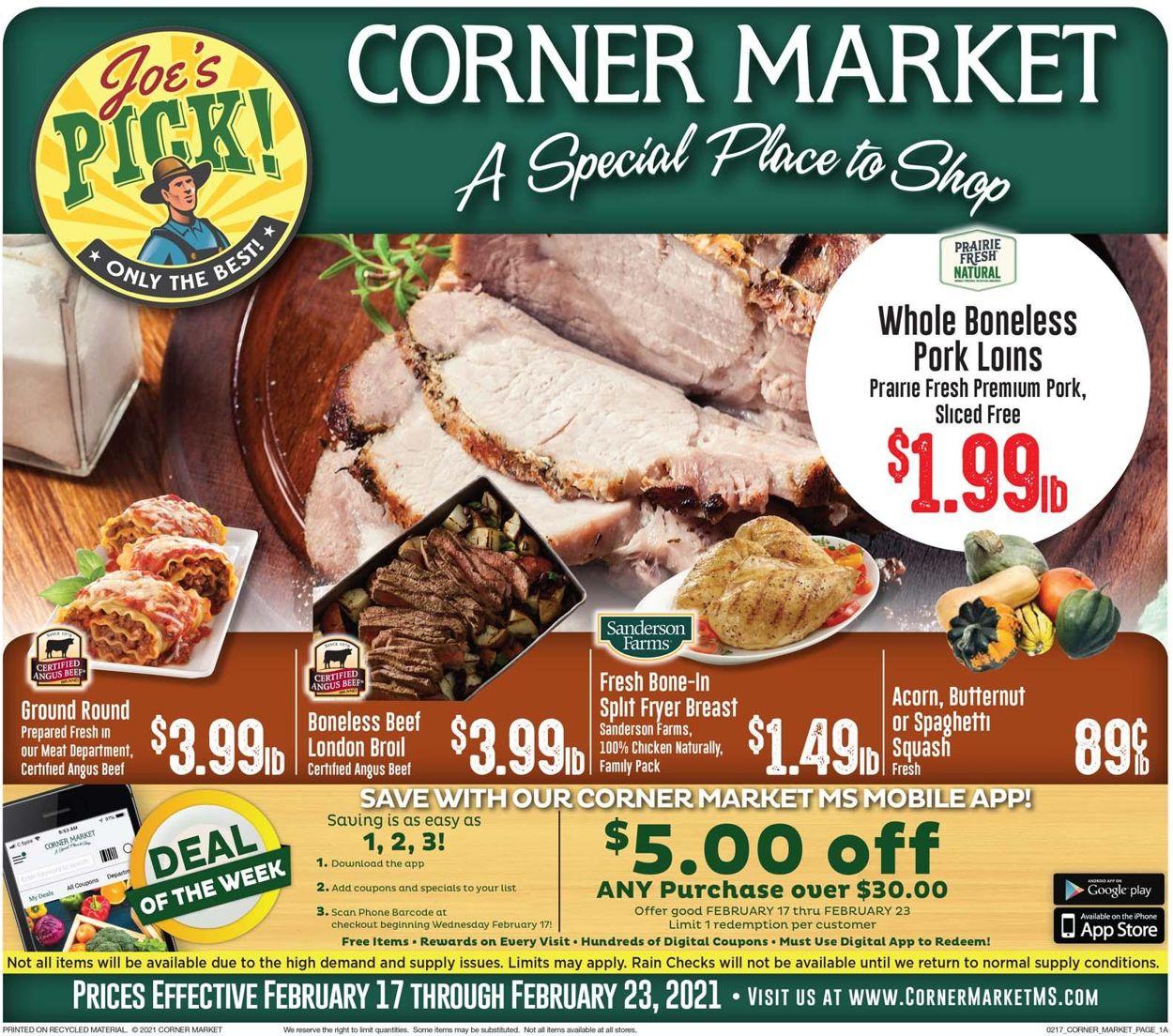 Corner Market Weekly Ad Circular - valid 02/17-02/23/2021