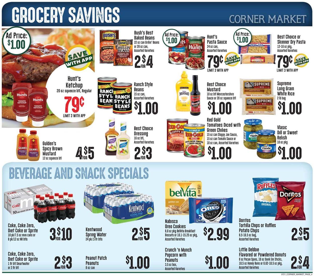 Corner Market Weekly Ad Circular - valid 07/21-07/27/2021 (Page 4)